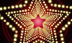 星光灿烂舞台背景 视频素材