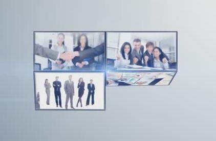 多张照片汇聚logo展示 视频模板