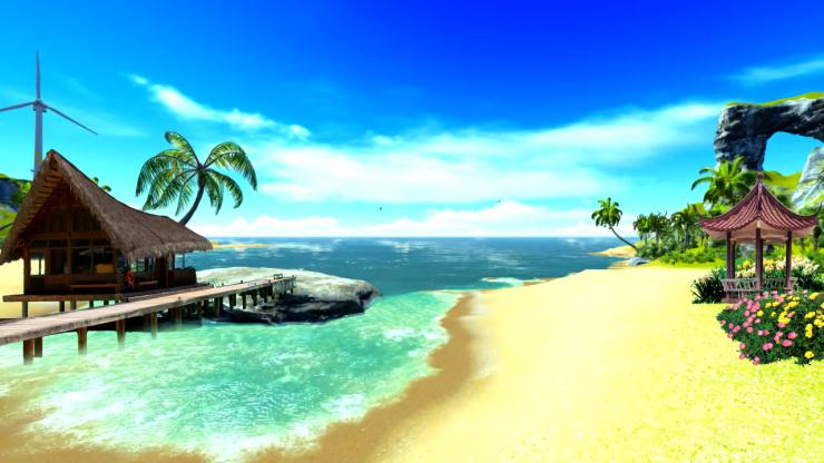 夏日椰岛视频素材