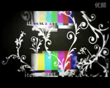 卡通花丛 视频模板