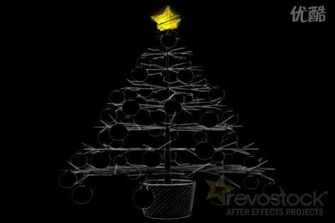 AE圣诞树 视频模板