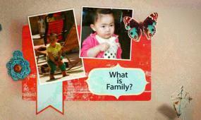 可爱宝宝有趣的家庭剪贴相册 视频模板