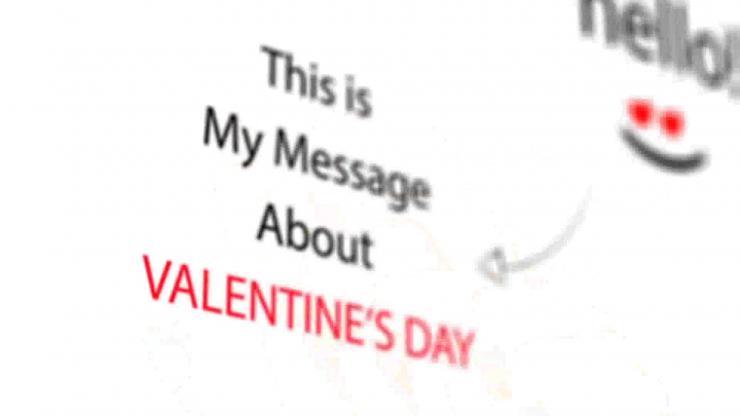 情人节素描介绍 视频模板