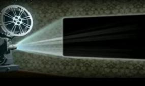放映机动画会声会影x4视频模板