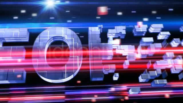 方块粒子logo 视频模板