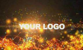 火焰粒子LOGO 视频模板