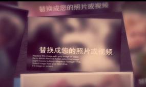 回忆时光家庭相册照片展示AE相册视频模板