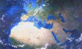 地球聚焦到城市地图 视频模板