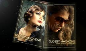 动感时尚杂志封面设计AE视频模板
