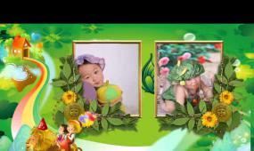 六一儿童之开心宝贝会声会影视频模板