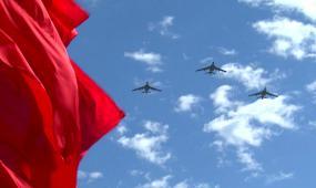 阅兵飞行方队视频素材