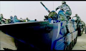中国军队演习视频素材