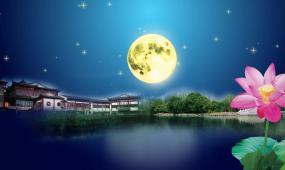 月亮升起夜色 视频素材