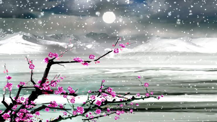 沁园春雪LED晚会背景视频素材