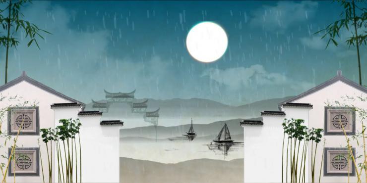 中国风水墨LED晚会背景视频素材