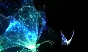 虚幻蝴蝶荷花LED晚会背景视频素材
