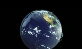 地球自转动态视频带通道