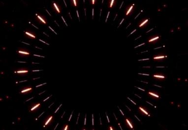 圆形散开光线