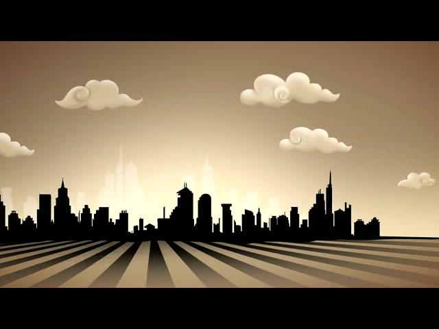 城市摩天大楼剪影