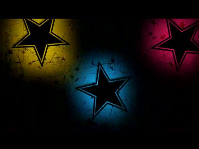 五彩闪动五角星