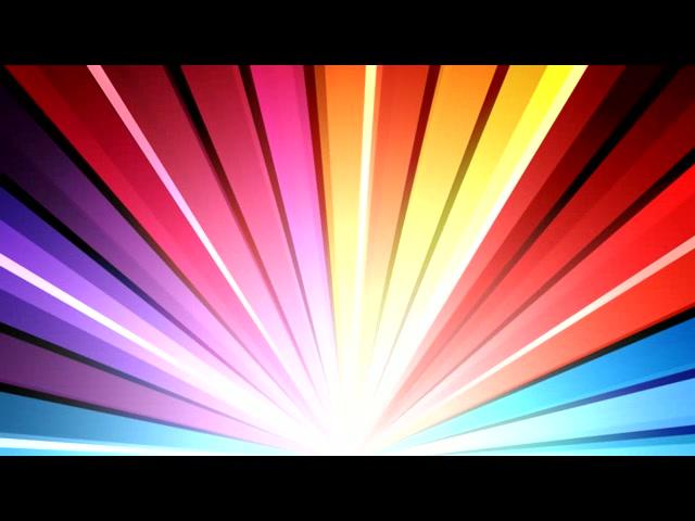 七彩光线滚动