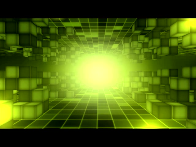 粒子光束 光线 光效 绿色背景 方框