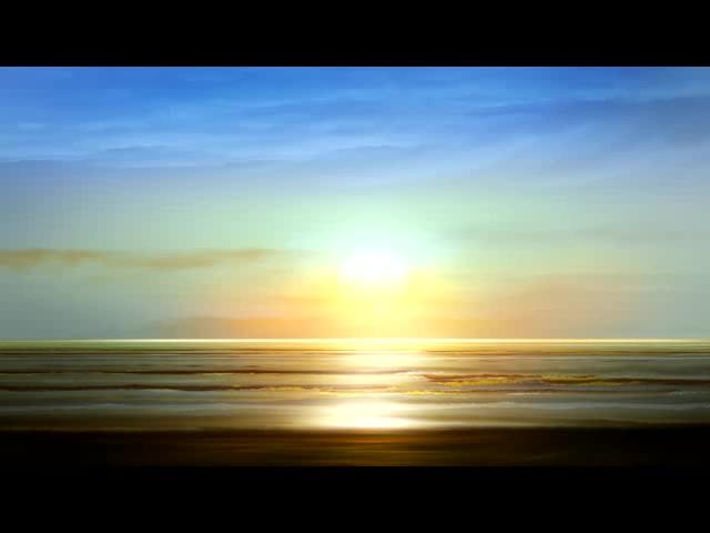 唯美海面背景