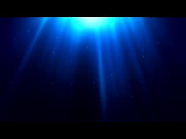 蓝色海洋光点闪耀