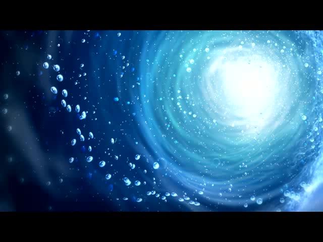 蓝色绚丽水雾漩涡