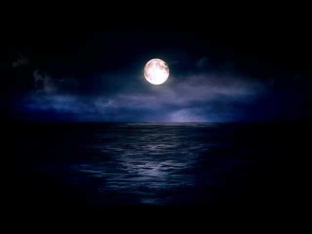 梦幻圆月海洋