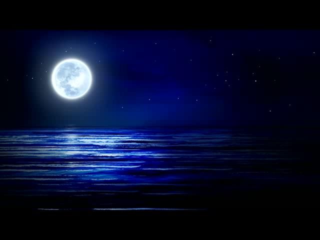 梦幻蓝海浪微动