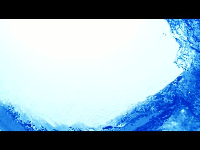 蓝色液体流动