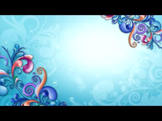 蓝色绚丽花纹生长