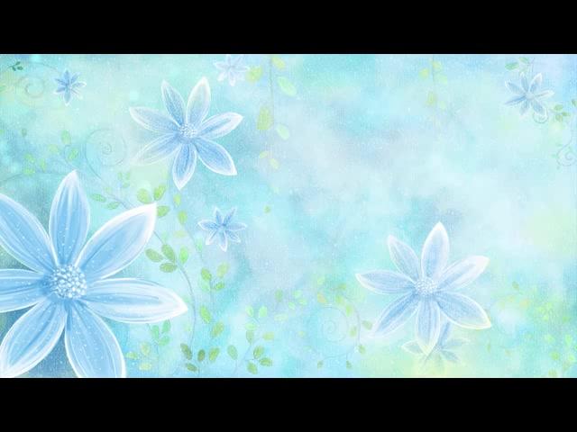 蓝色背景花朵旋转淡雅
