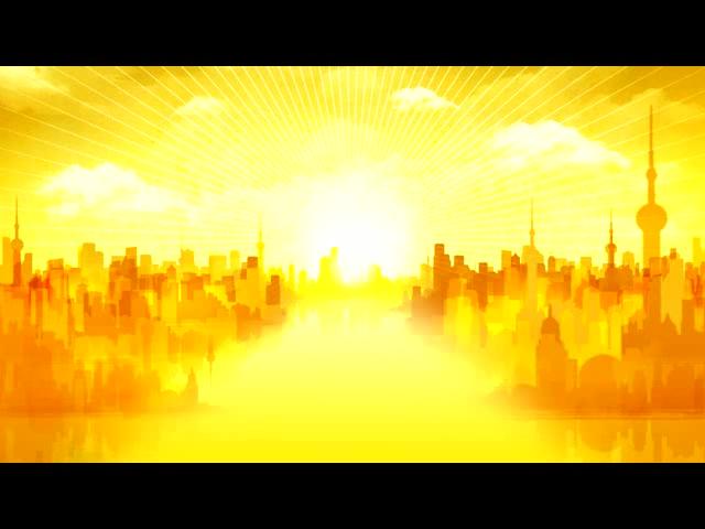 金色城市背景