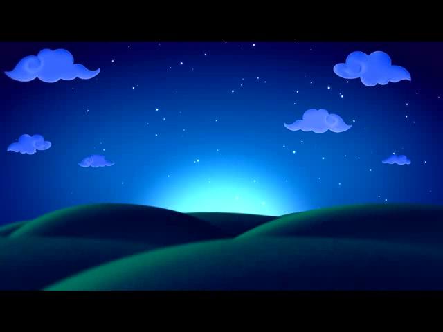 唯美的儿童背景草原的夜空云彩