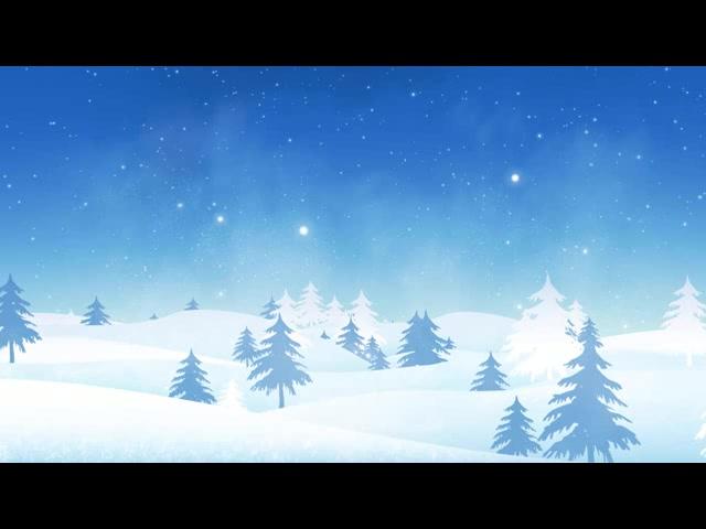 蓝色背景下雪树林