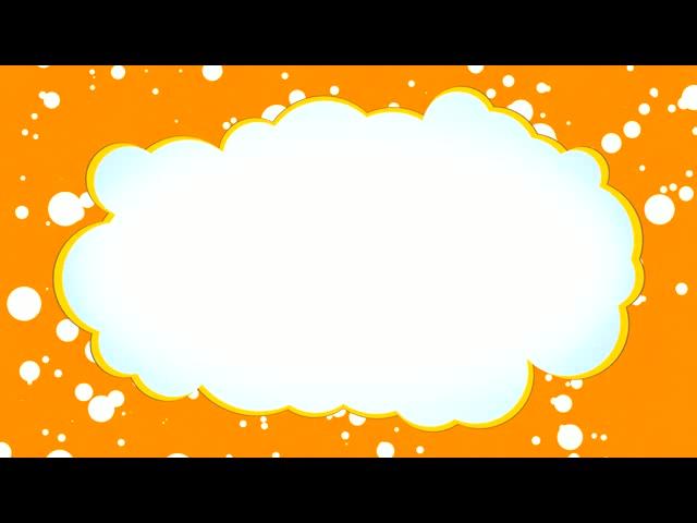 橙色卡通云形