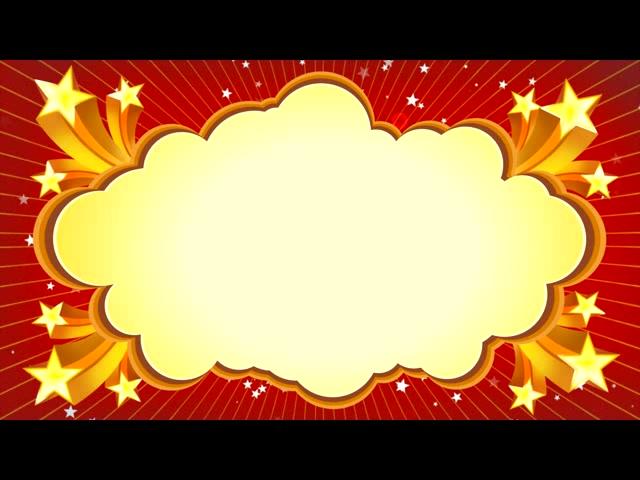 卡通动感云朵