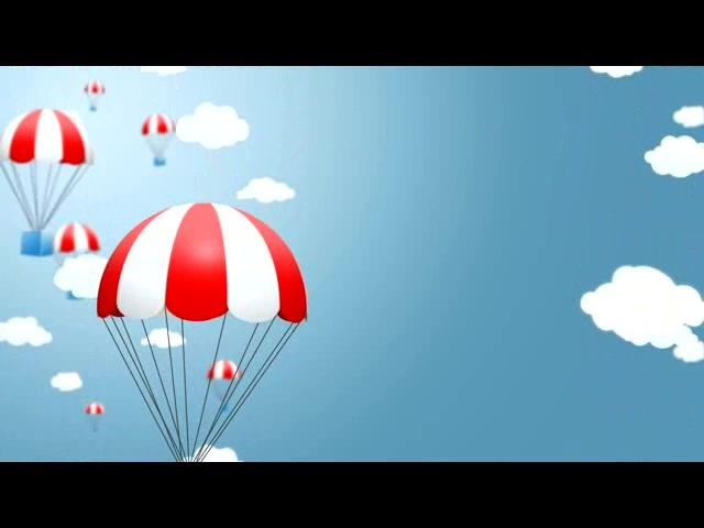 卡通降落伞