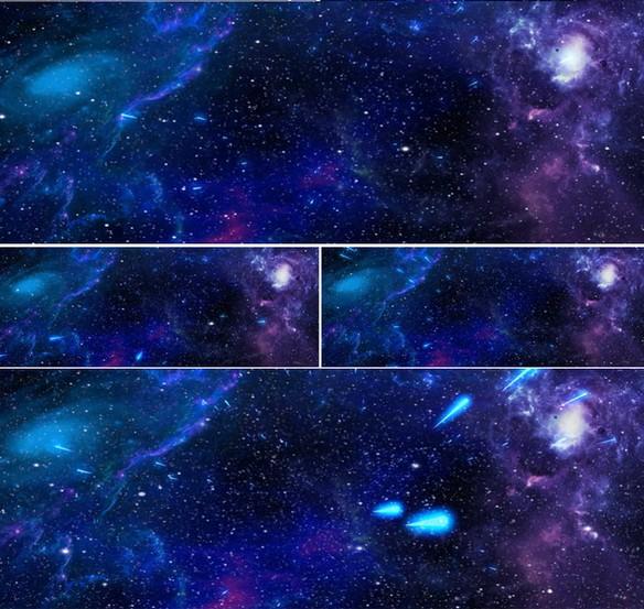 宇宙 粒子星空 星系 裸眼3D幻影全息素材 婚礼婚庆背景