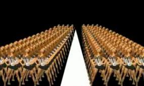 仿碧昂斯经典人屏互动LED舞台背景视频素材