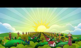卡能房子太阳彩虹
