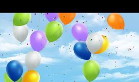 唯美气球上飘场景