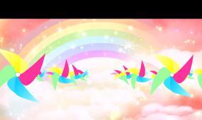 浪漫彩虹风车