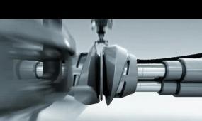 会声会影特效配音机械LOGO视频模板