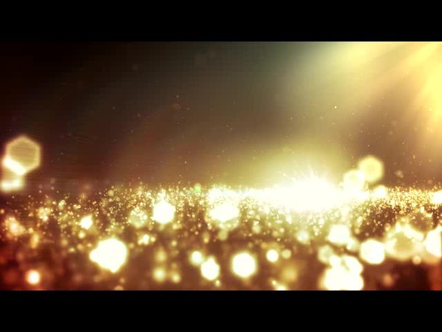 金色暖色系粒子闪耀光辉LED素材