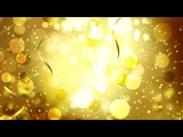 炫金光点背景彩带飘落LED背景素材