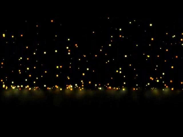 夜空缤纷粒子下落LED素材