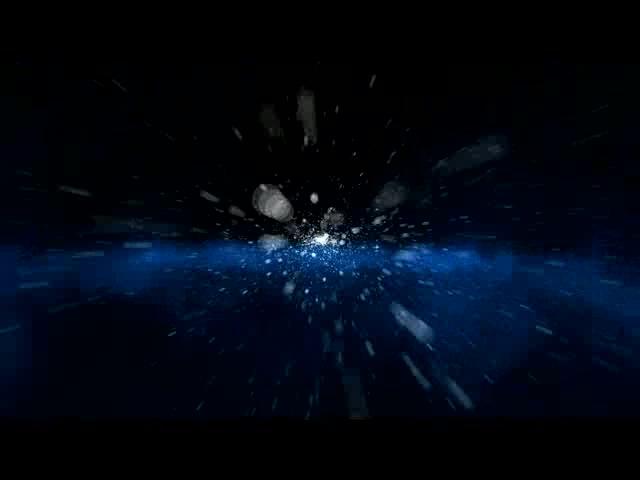 夜空飞行冲刺粒子倒退片头素材